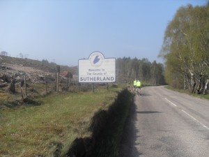Cycling into Sutherland